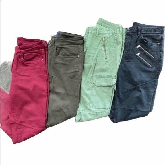 Zara Skinny Jean Bundle 4 Pair Multicolored Size 8